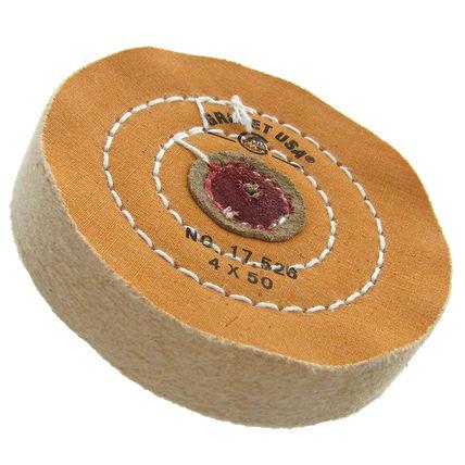 imagem do produto Escova Circular de Algodão Vermelho 4 Polegadas - GROBET