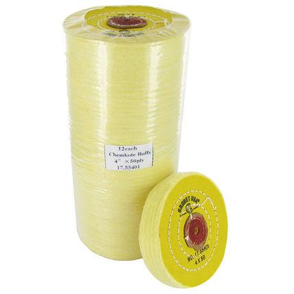 imagem do produto Escova Circular Algodão Amarelo 4 Polegadas - GROBET